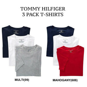 Mens-Tommy-Hilfiger-3-Pack-Classic-Cotton-Crew-Neck-T-shirt-NEW