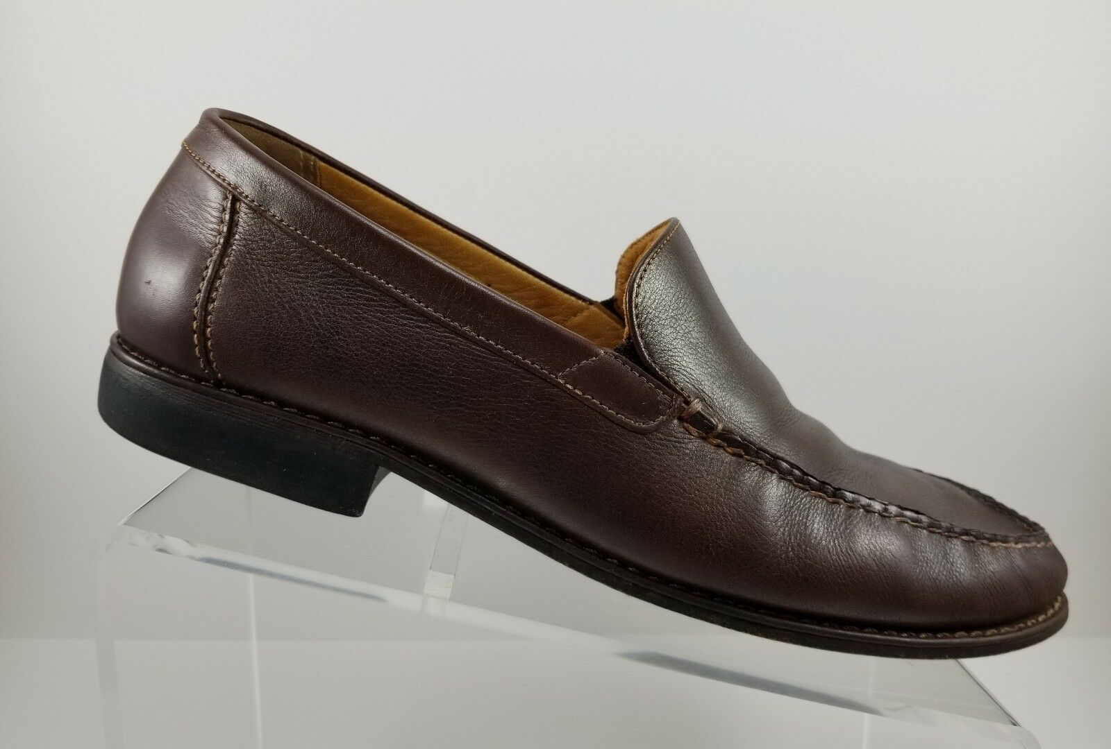 Johnston & Toe Murphy Brown Leather Slip On Casual Moc Toe & Loafers Mens 10.5M c70e40