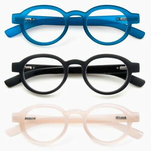 GAWK-New-Funky-Retro-Round-Rimmed-READING-GLASSES-amp-Pouch-1-00-1-50-2-0-2-5-3-0