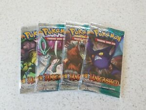 Pokemon complete sealed heart gold soul silver booster pack unleashed