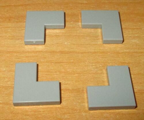 2x2-in NUOVO GRIGIO CHIARO-NUOVO LEGO BASIC 4x Eck Piastrelle
