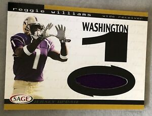 2004 Sage Reggie Williams Game Worn Jersey Rookie Card NM-MT