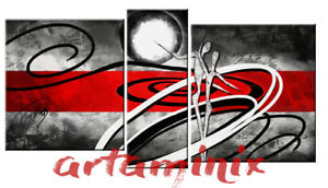 Arredamento Casa Etnico Moderno.Dettagli Su Quadro Moderno Astratto Grigio Rosso Danza Etnico Arredo Casa