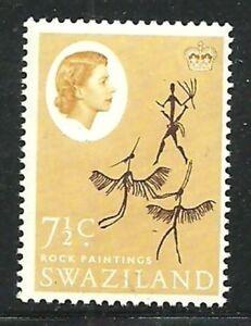 Album-Treasures-Swaziland-Scott-99-7-1-2c-Elizabeth-Rock-Paintings-Mint-NH