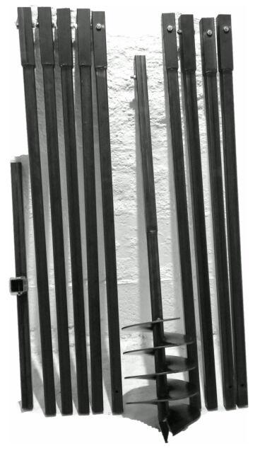 Verlängerungsstange für Erdlochbohrer 4er Set Erdbohrer Handbohrer Brunnenbohrer