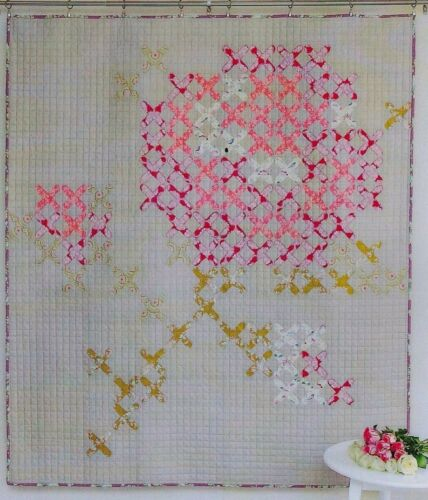 applique /& pieced quilt PATTERN Tied with a Ribbon Viv/'s Rose