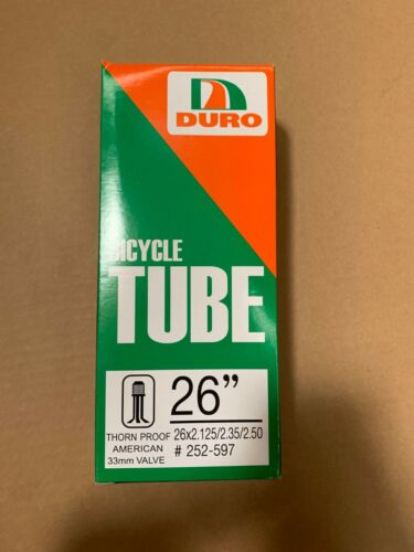 NEW BIKE TUBE IN 26 X 2.125//2.35//2.40 33MM THORN RESISTANT SCHRADER//VALVE!