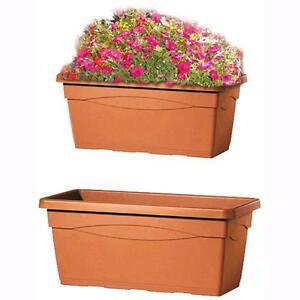 Vaso rettangolare in plastica mod cassettone colore for Vaso rettangolare