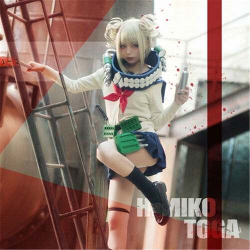 My Hero Academia League of Villains Himiko Toga Cosplay Costumes Sailor Uniform