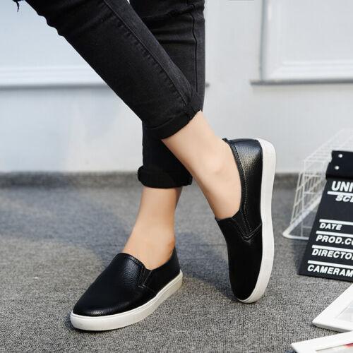 Women/'s Summer Respirant Mocassins En Cuir Souple Conduite Chaussures Décontractées à Enfiler Plates