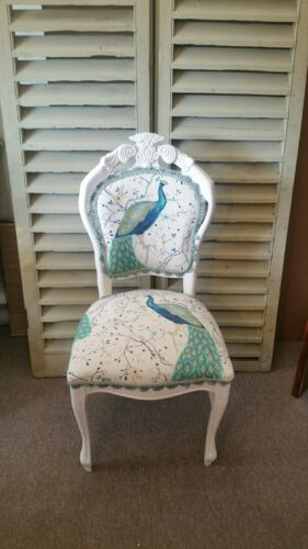 PEACOCK FRENCH STYLE CHAIR IN LAURA ASHLEY PALE IVORY