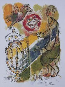 Chagall-Marc-Histoire-De-L-039-Exode-Lithografie-Nummeriert-Unterzeichnet-500ex
