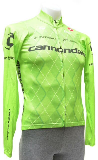 NEW Cannondale Castelli Pro Team Short Sleeve Cycling Bicycling Jersey GREEN