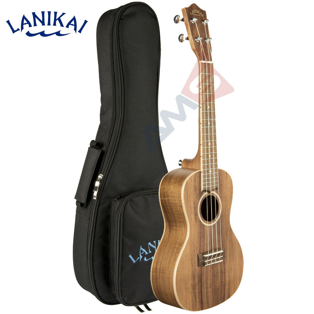 NEW Lanikai ACACIA Series ACST-C Concert Solid Top Ukulele with Gig Bag