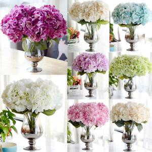 5 Kopfe Kunstlich Hortensie Seide Blumengesteck Party Blumen