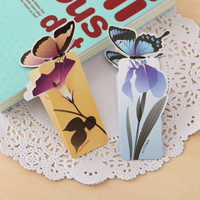 1PCS Cute Bookmark butterfly Style Teacher's Gift Book Marker Stationery CA