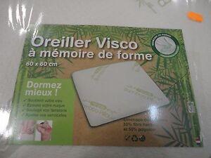 ... OREILLER VISCO A MEMOIRE DE FORME 60 X