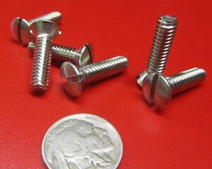 """NEW STAINLESS STEEL FLAT HEAD SLOTTED MACHINE SCREW 10-24 x 2/""""  500PCS"""