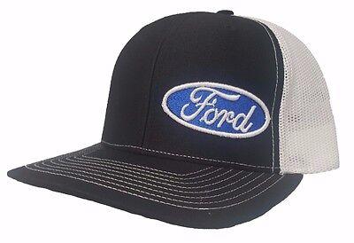 Richardson Ford Logo Snapback Hat Trucker Cap for Men and Women