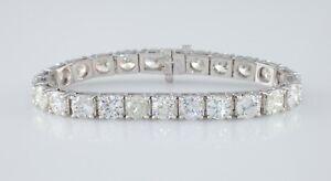 14k-White-Gold-Round-Diamond-Tennis-Bracelet-1-ct-Each-TDW-25-05-ct-Gorgeous