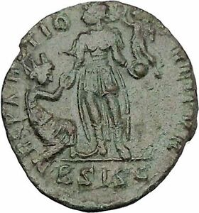 Gratian-with-kneeling-woman-amp-Victory-378AD-Rare-Ancient-Roman-Coin-i45654