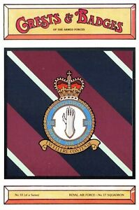 Postcard-RAF-Royal-Air-Force-No-17-Squadron-Crest-Badge-No-33-NEW