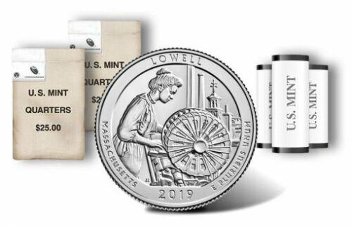 2019 D  ATB Lowell National Historical Park Mass MA Mint Quarter Coins Money