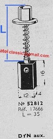 charbon balai auxiliaire pour dynamo DUCELLIER L shunt = 35