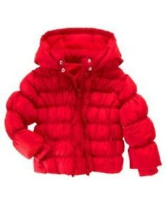 GYMBOREE-COZY-CUTIE-RED-PUFFER-HOODED-JACKET-3-4-5-6-7-8-10-12-NWT