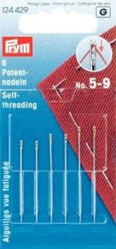 Nähnadeln ohne einfädeln Patentnähnadeln Blindennadel Stahl 5-9 silberfarbig