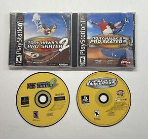 Playstation-1-Tony-Hawk-s-Pro-Skater-2-amp-Pro-Skater-3-no-back-art-PS1