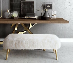bench mongolian avafluffandstuff modern by pin lamb sheepskin fur