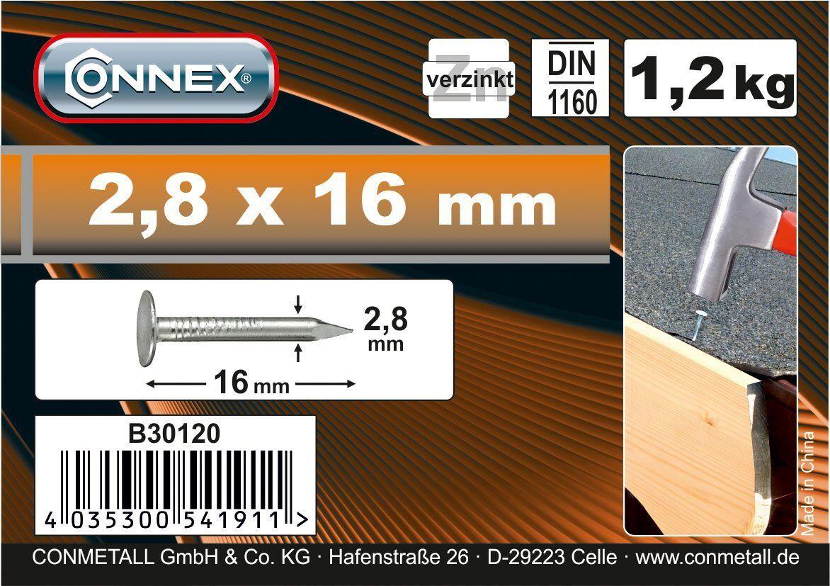 Dachpappstifte Verzinkt 1200 Eimer Connex Dachpappnägel Produkt Din 1160 Marken