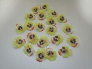 Dekoration 20 künstliche Stiefmütterchen Blüten künstlich Kunstblumen Streudeko