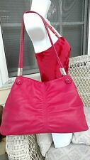 Etienne Aigner Leather Sophisticated Pretty in Pink W/Gathers Satchel Handbag