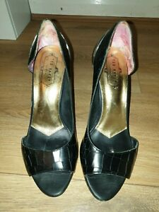 LADIES-DESIGNER-TED-BAKER-STILETTO-HEELED-OPEN-TOE-SHOES-UK-5-RRP-90-00