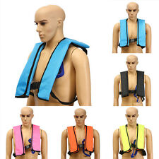 Adult Manual Inflatable Life Jacket Sailing Boating Security Swimming Vest