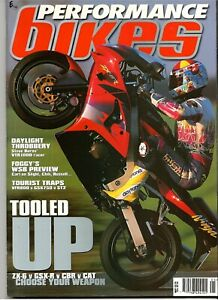 Performance Bikes Magazine May 1998 ZX-6R Ninja Carl Fogerty Ducati
