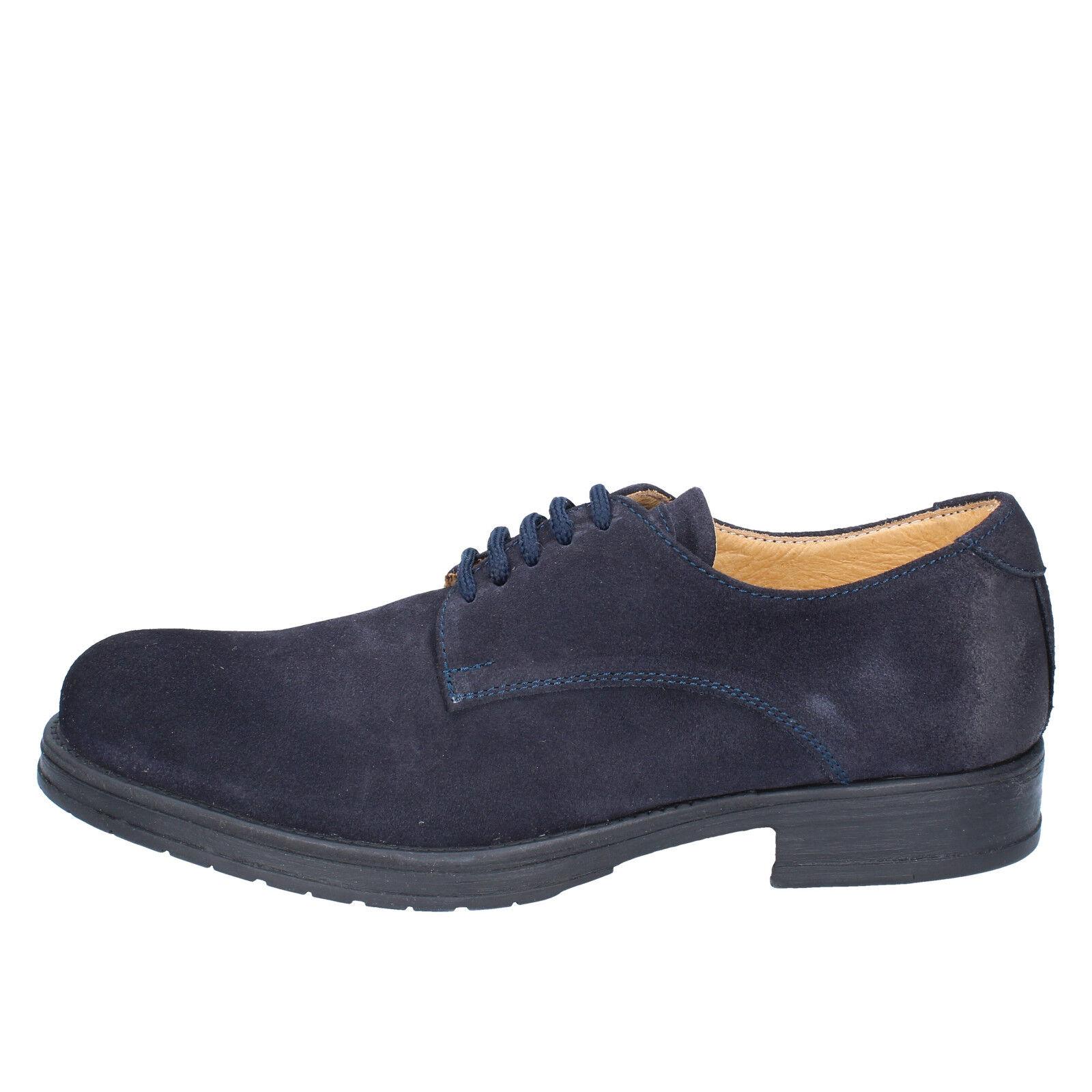 Herren schuhe SALVO BARONE wildleder 40 EU elegante blau wildleder BARONE BZ166-B ff60a7