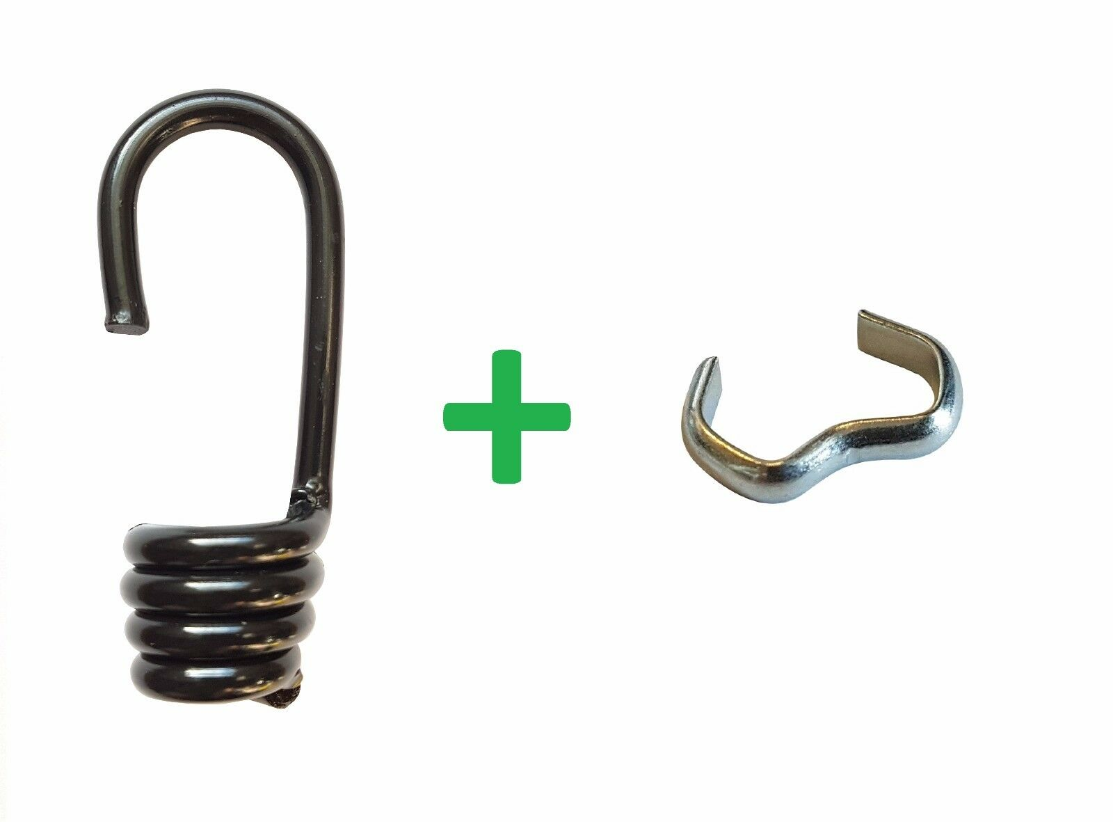 100 Spiralhaken + + + Seilklemme Gummiseil Expanderseil 6-10mm Gummi Leine Seil LKW 36bb59