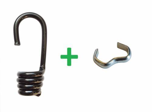 Seilklemme f Gummiseil Expanderseil 6-10mm Gummi Leine Seil LKW 10 Spiralhaken