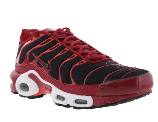 Nike air max + 1 tn / dura rosso / tn nero su rosso / cile formatori dimensioni u. k 7 10. 5189a8