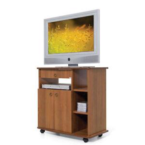 Mobile carrello porta tv con ruote ante e cassetto colore noce antico televisore ebay - Carrello porta tv ikea ...