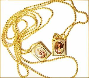 gold necklace carat direct inc plated scapular medal miraculous sdetail lourdes beautiful from