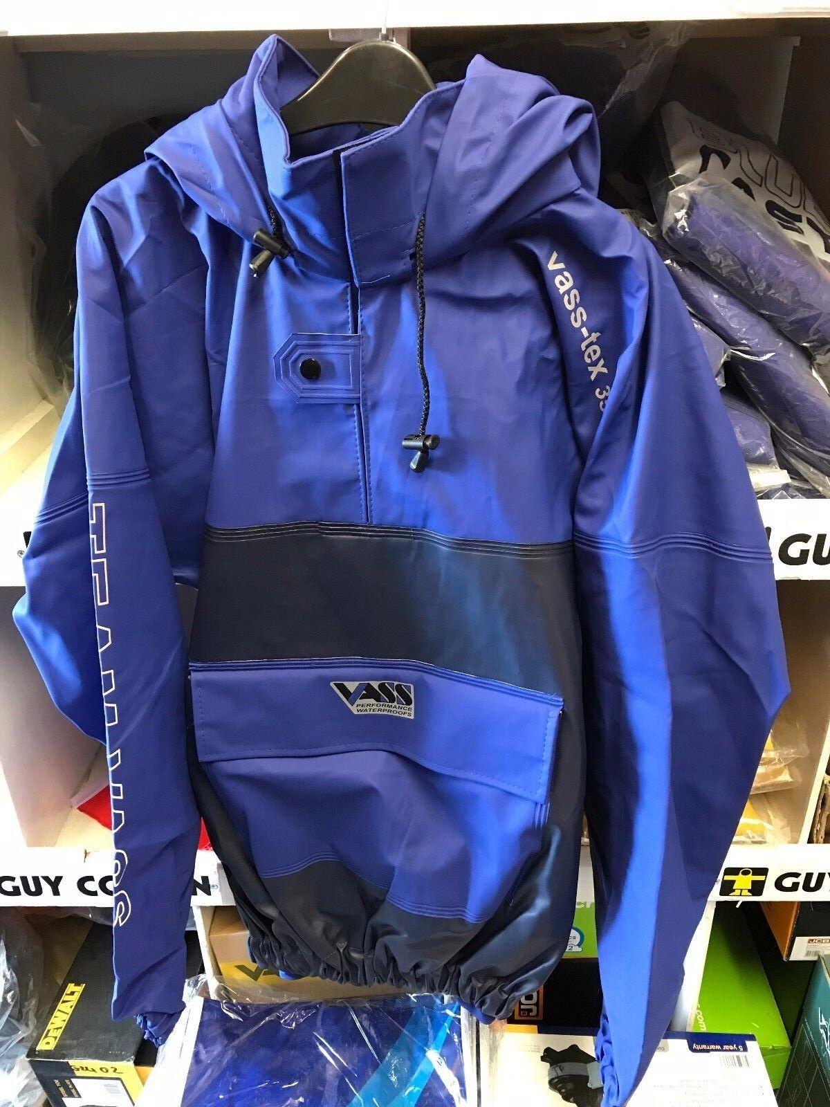 Vass-Tex 350 Heavy Duty Team Vass Smock Blau - 100% Waterproof & Windproof