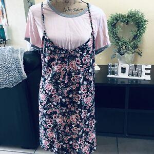 Womens-Tunic-Dress-Shirt-BOBBIE-BROOKS-Size-XL