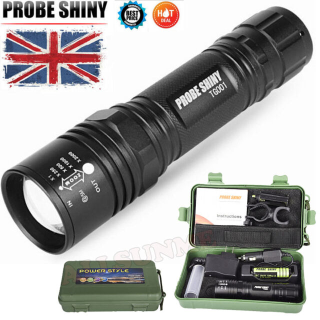 Mini Super Bright T6 CREE LED Adjustable Focus Flashlight Torch Zoomable