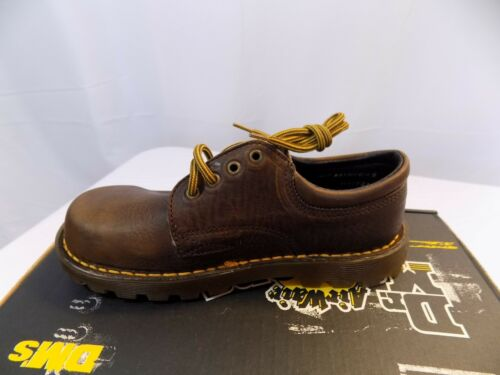 New Dr Doc Martens 6378 Kids Bark Leather Low Top Oxford Shoes NOS Youth 13 /& 1