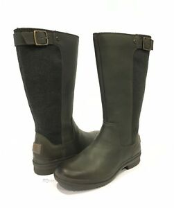 545870a4a5e Details about UGG JANINA WATERPROOF TALL BOOTS SLATE GREEN LEATHER -WOMEN'S  US SIZE 7 -NEW