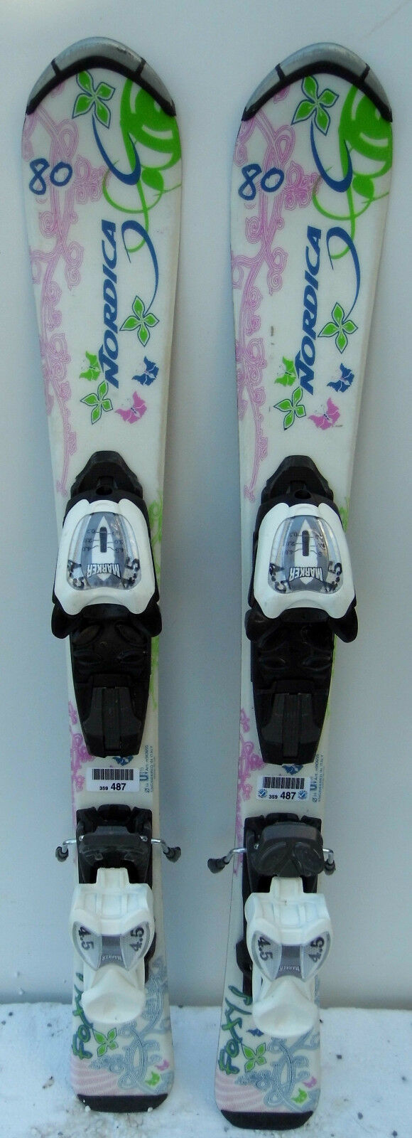 Skis parabolic used  Junior NORDICA Foxy + Bindings - 31 1 2in  40% off
